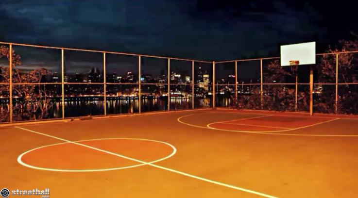 Streetball Courts New York City Nights Basketball Court Flooring Basketball Court Street Basketball