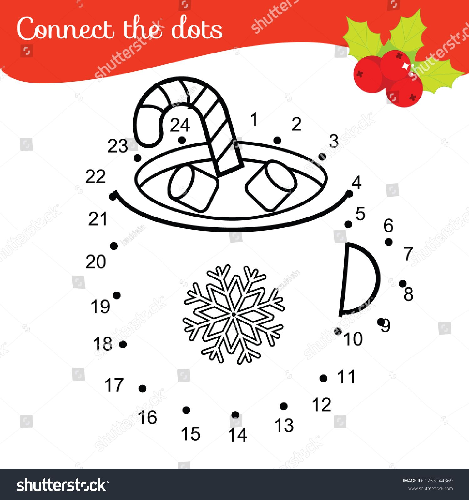Children Educational Game Connect Dots By Numbers New
