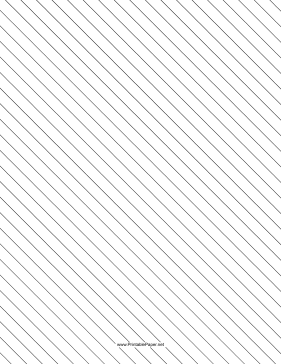 This slant ruled paper features wide-ruled lines for