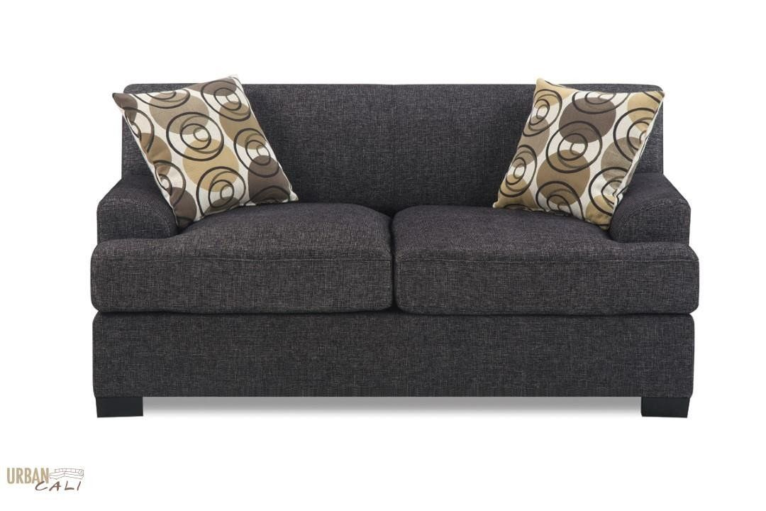 Hayward Loveseat In Ash Black Or Sandstone Linen Fabric Love