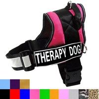 Dog Harness Vest With Handle Free Therapy Dog Velcro Patches Dog