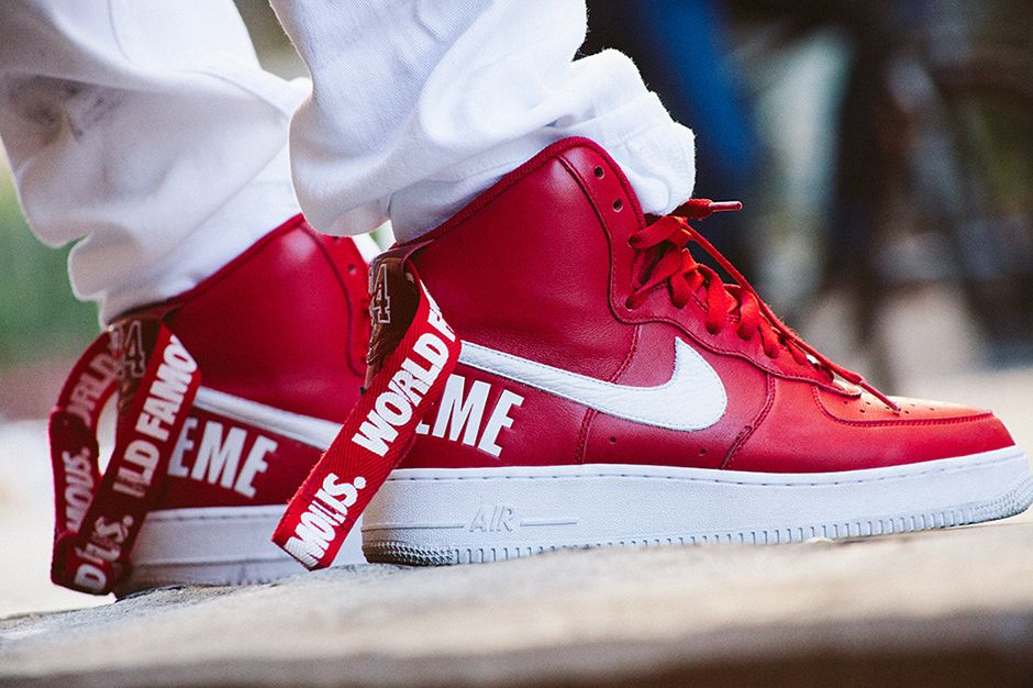 Supreme x Nike Air Force 1 High - Release Date - SneakerNews.com