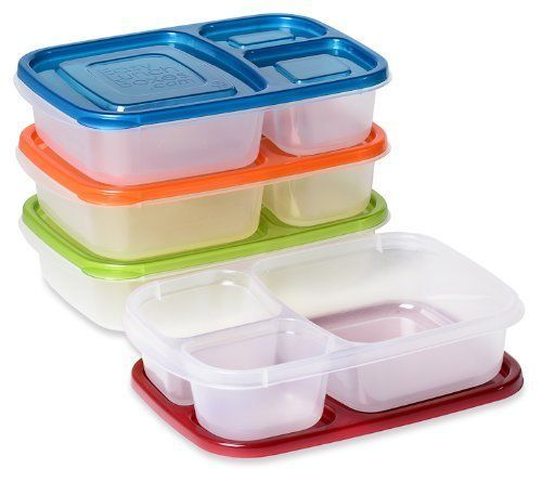 Lunchboxes 3 Compartment Tupperware Bento Lunch Box Containers Set Of 4 New Bento Box Lunch Lunch Box Containers 3 Compartment Food Containers