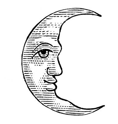 11 Man In The Moon Clipart