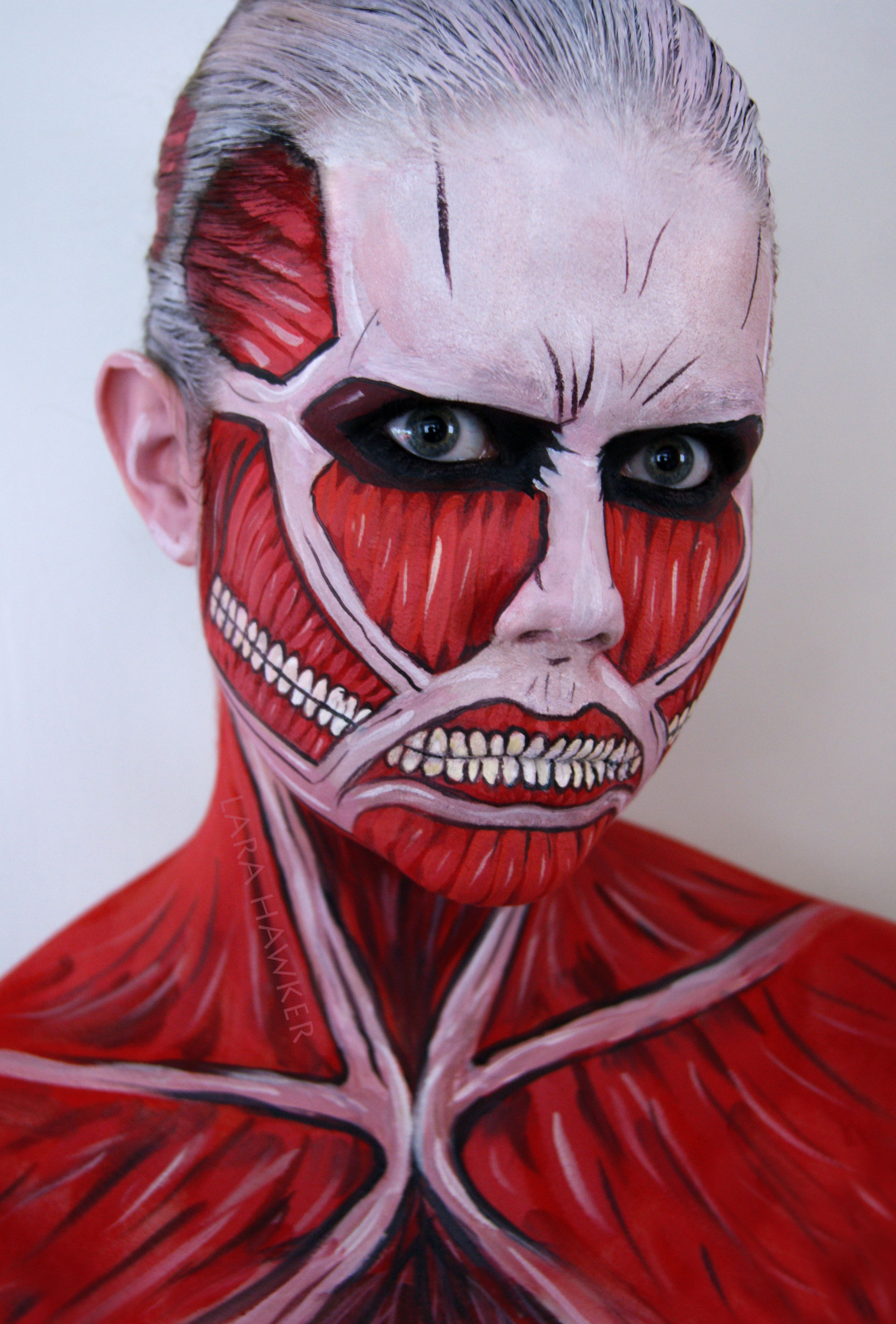 Colossal titan face painting Face painting halloween