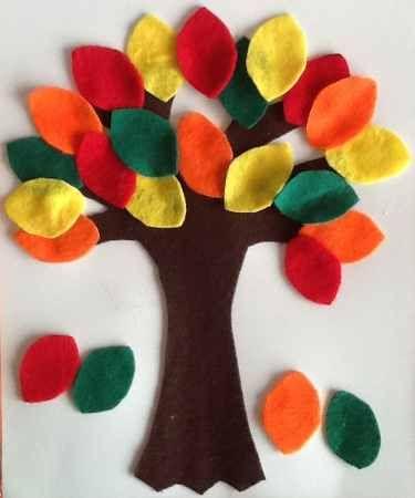 arbol con hojas de otoño manualidad otoó Pinterest Hojas de