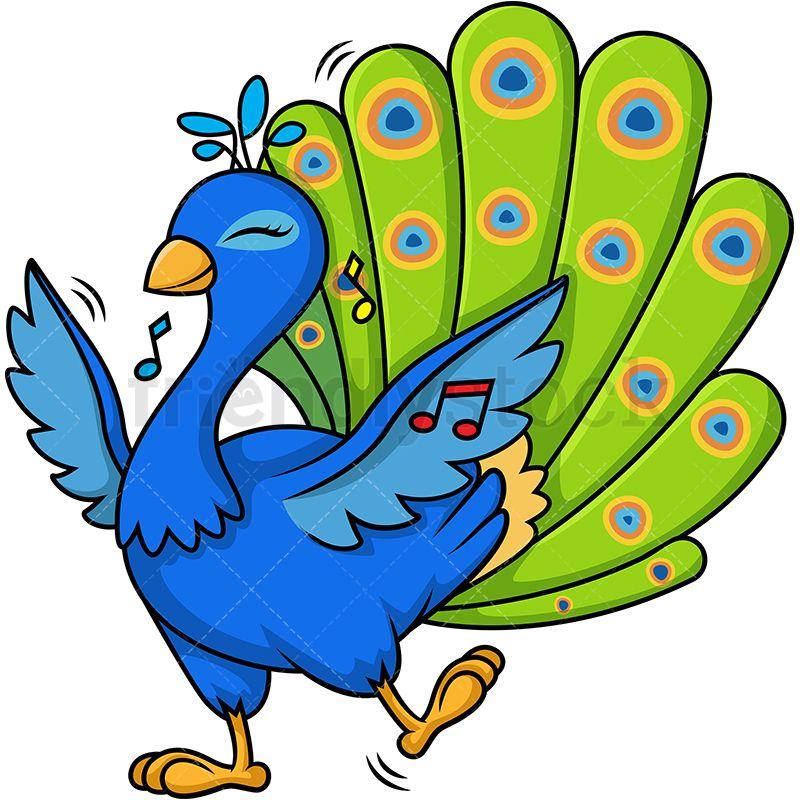 Get Peacock Cartoon Drawing