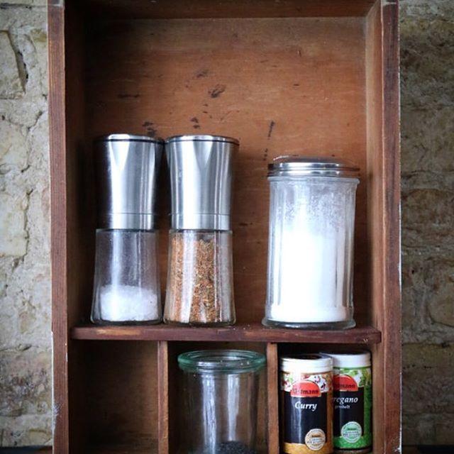Schublade Drawer Gewürzregal Regal Box Kitchen Vintage