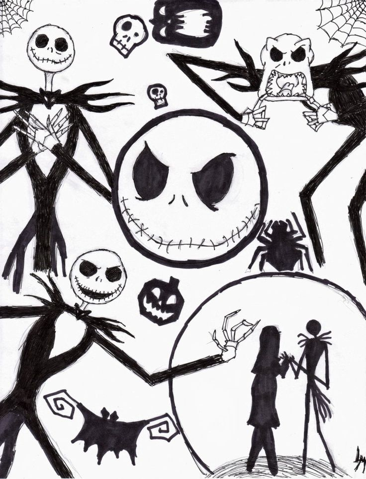 Nightmare Before Christmas Coloring Pages Coloring Pages Adult