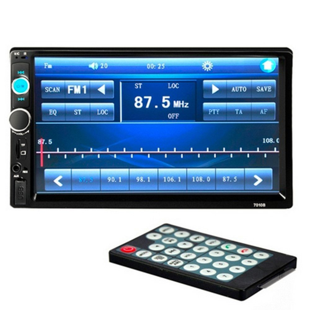 Double 2 Din Car Bluetooth Audio 7in Hd Radio In Dash Touch Screen
