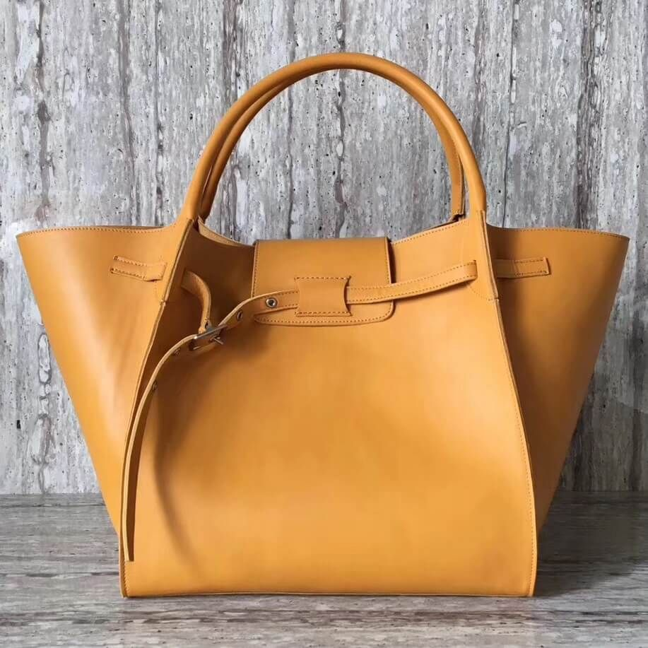 97725a0a5fe6 Celine Medium Big Bag in Smooth Calfskin Ginger 2018