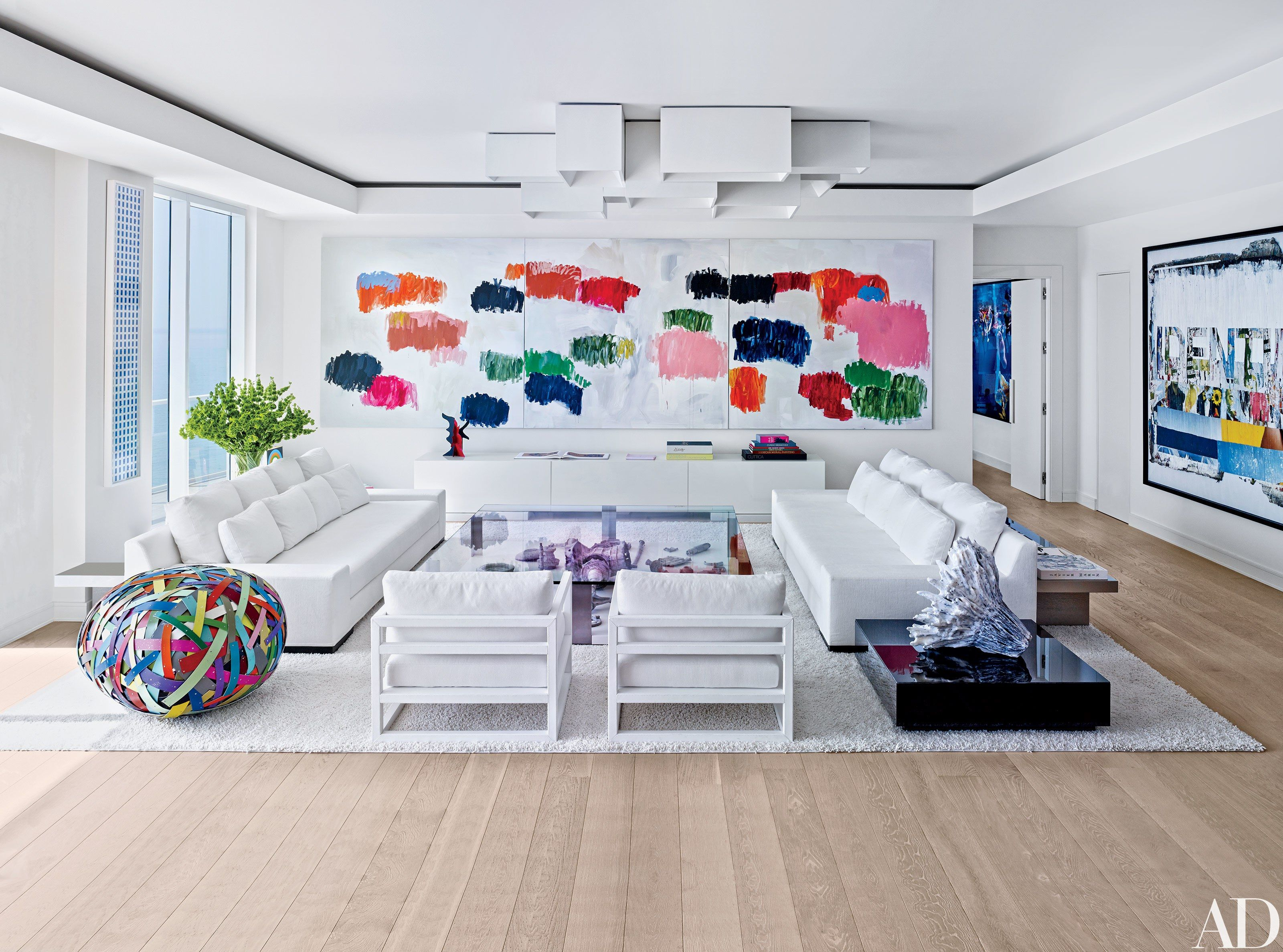 13 White Living Rooms | Architectural digest, Living rooms and Room