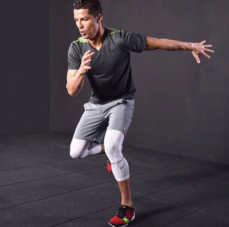 Cristiano Ronaldo looked fit and stylish while training. The soccer star is  sporting Nike sneakers