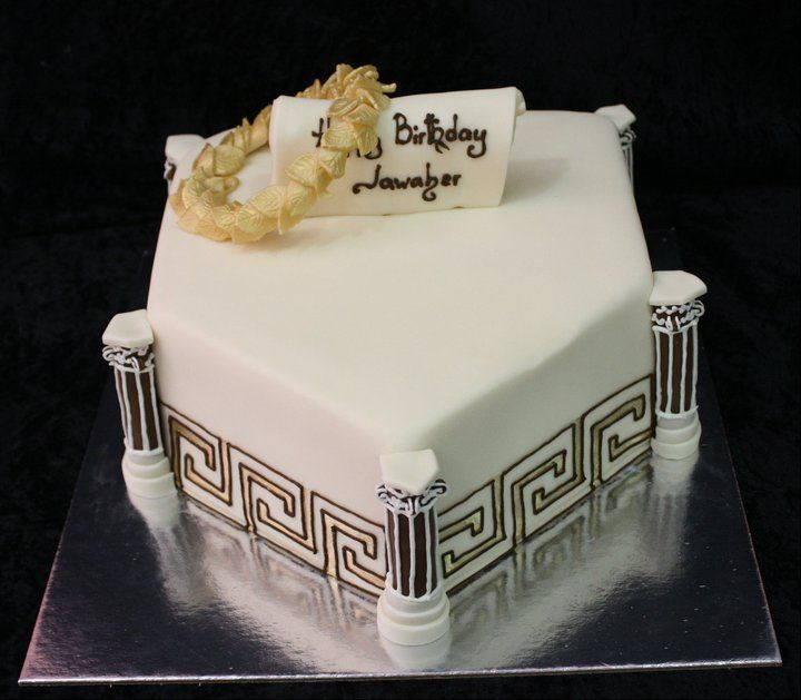 Greek Key Design Wedding Cake Hellenic Wedding Ideas
