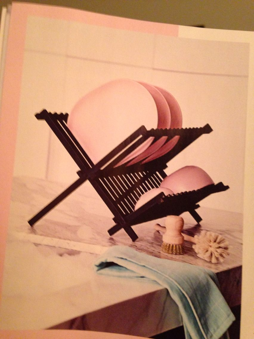 Paint a normal wooden dish rack. From Inside Out mag