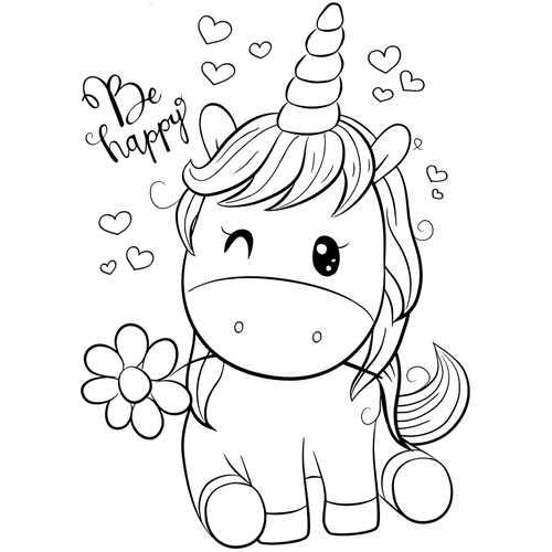 Dibujos De Unicornios En Pinterest Unicornios Para Pintar