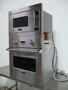 Viking 27 Single Wall Oven Microwave Combo Stainless Steel