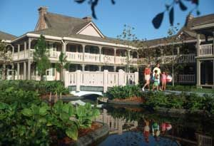 """Disney World's Port Orleans Riverside, a """"moderate"""" priced resort, located near EPCOT."""