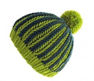 Zweifarbige Mütze Im Patentmuster Schal Mütze Muster Pinterest