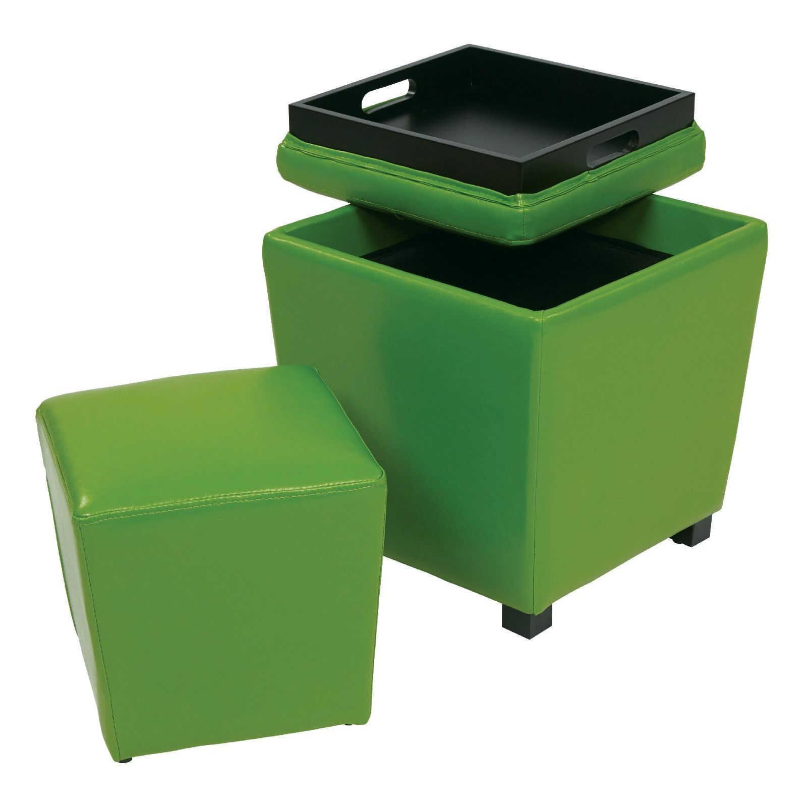 Outstanding Ottoman With Storage And Tray Set Products Wood Vinyl Alphanode Cool Chair Designs And Ideas Alphanodeonline