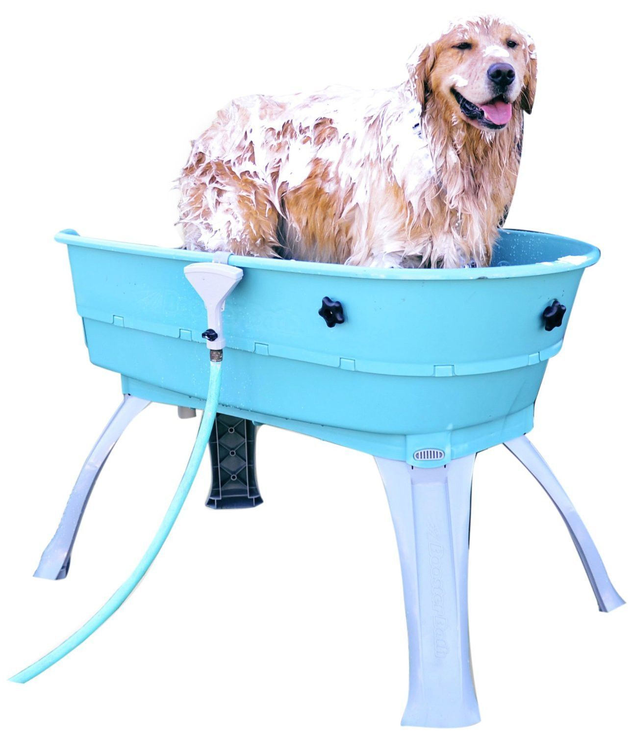 The Booster Bath Elevated Dog Bathing And Grooming Tub Is