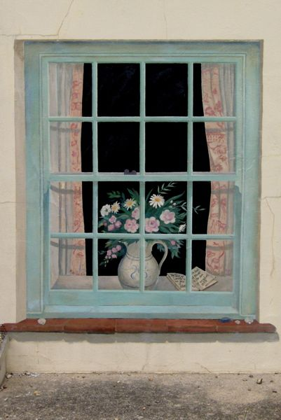 Trompe L Oeil Exterior Window Norfolk Garden And