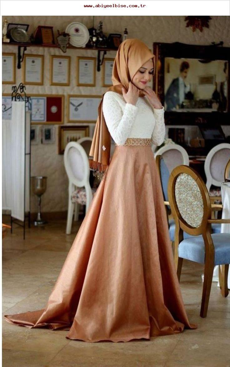 online shop a-linie mit hijab weiß und rosa samt elegant
