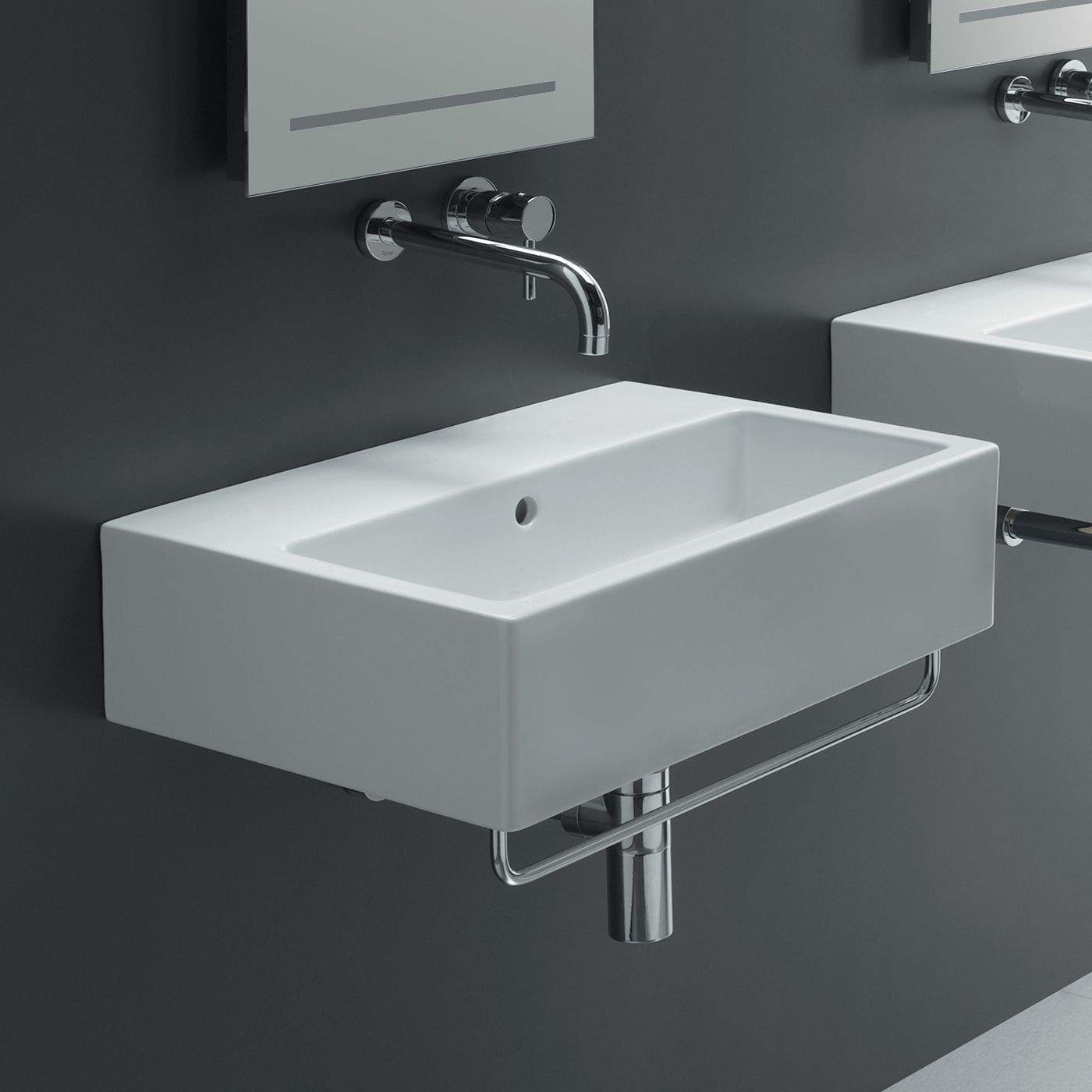 Bathroom Sinks Stores bissonnet 20150-st area boutique ice 60 wall mount bathroom sink