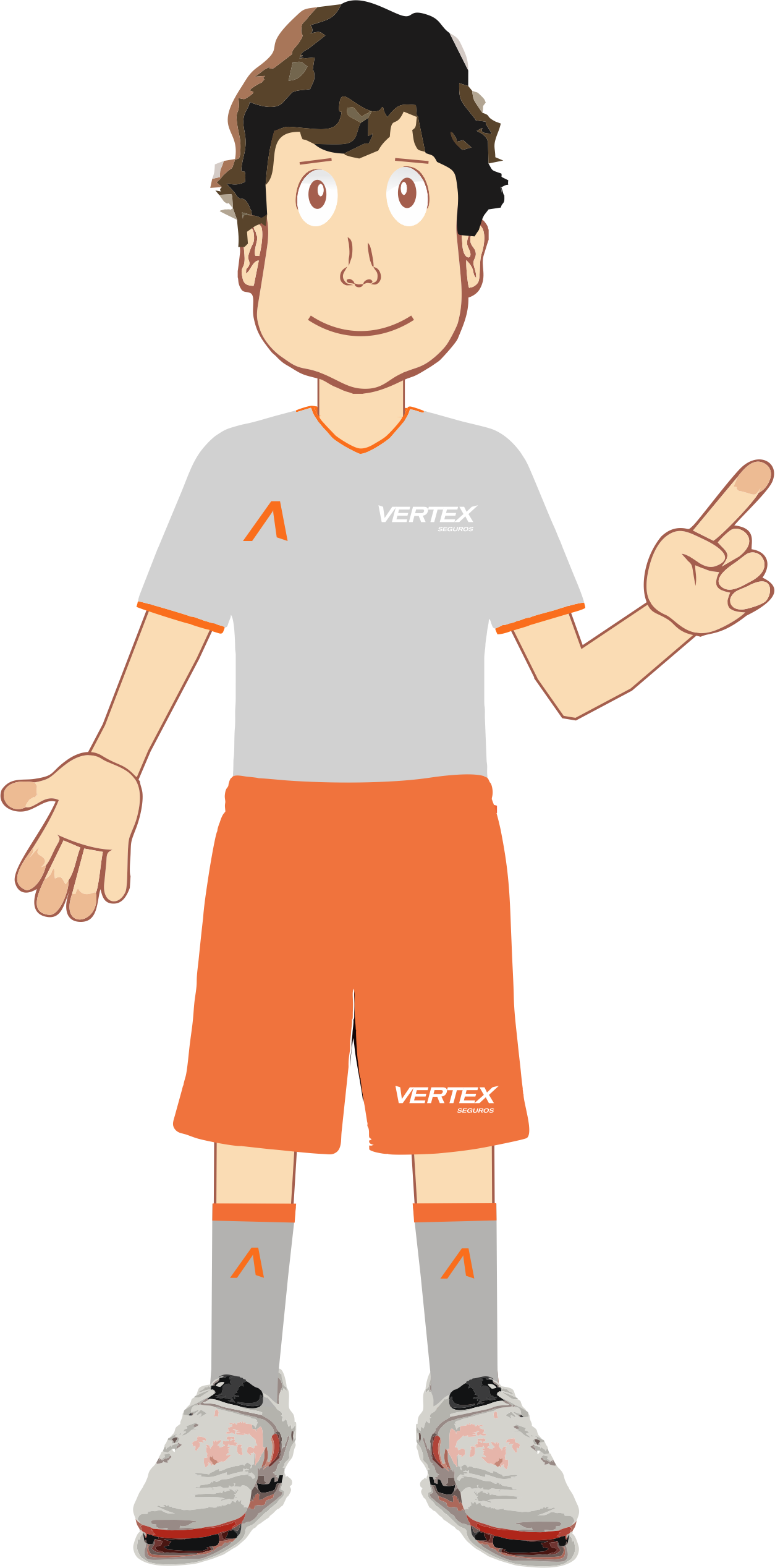 Mascote criado para anunciar as Ações da SVS - Seleção Vertex Seguros durante.