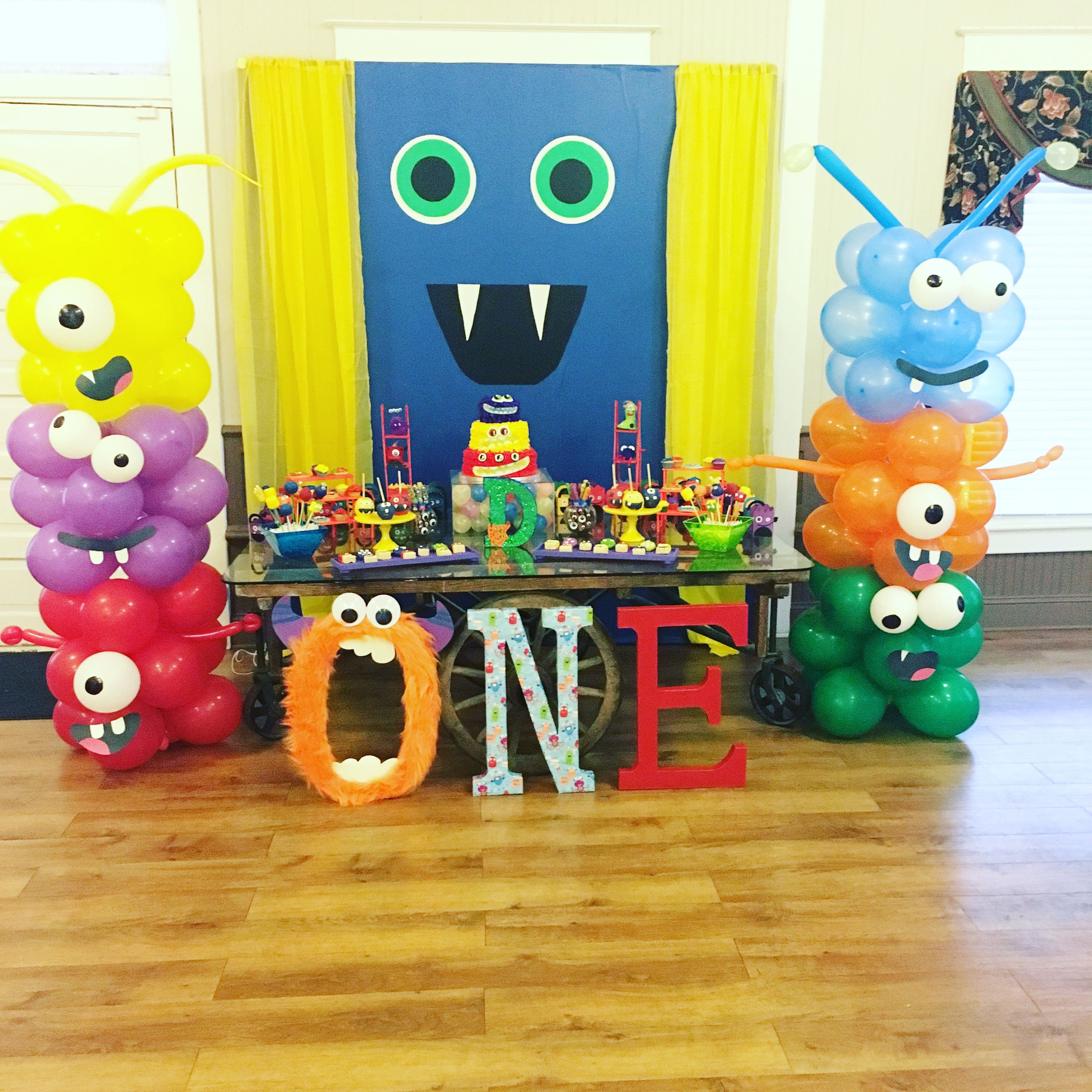 Pin On 1st Little Monster Birthday Party