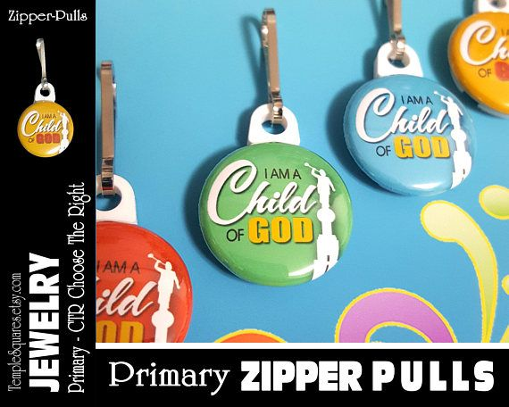 zipper pulls i am a child of god lds gifts 2018 primary