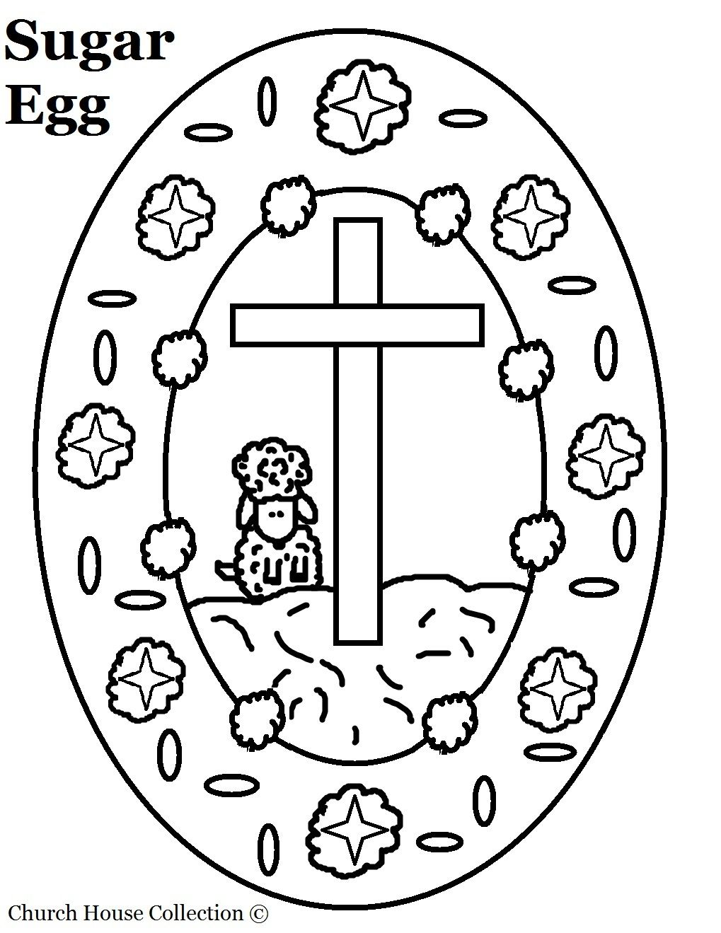 Christian Easter Egg Coloring Pages | egg coloring page sugar egg ...