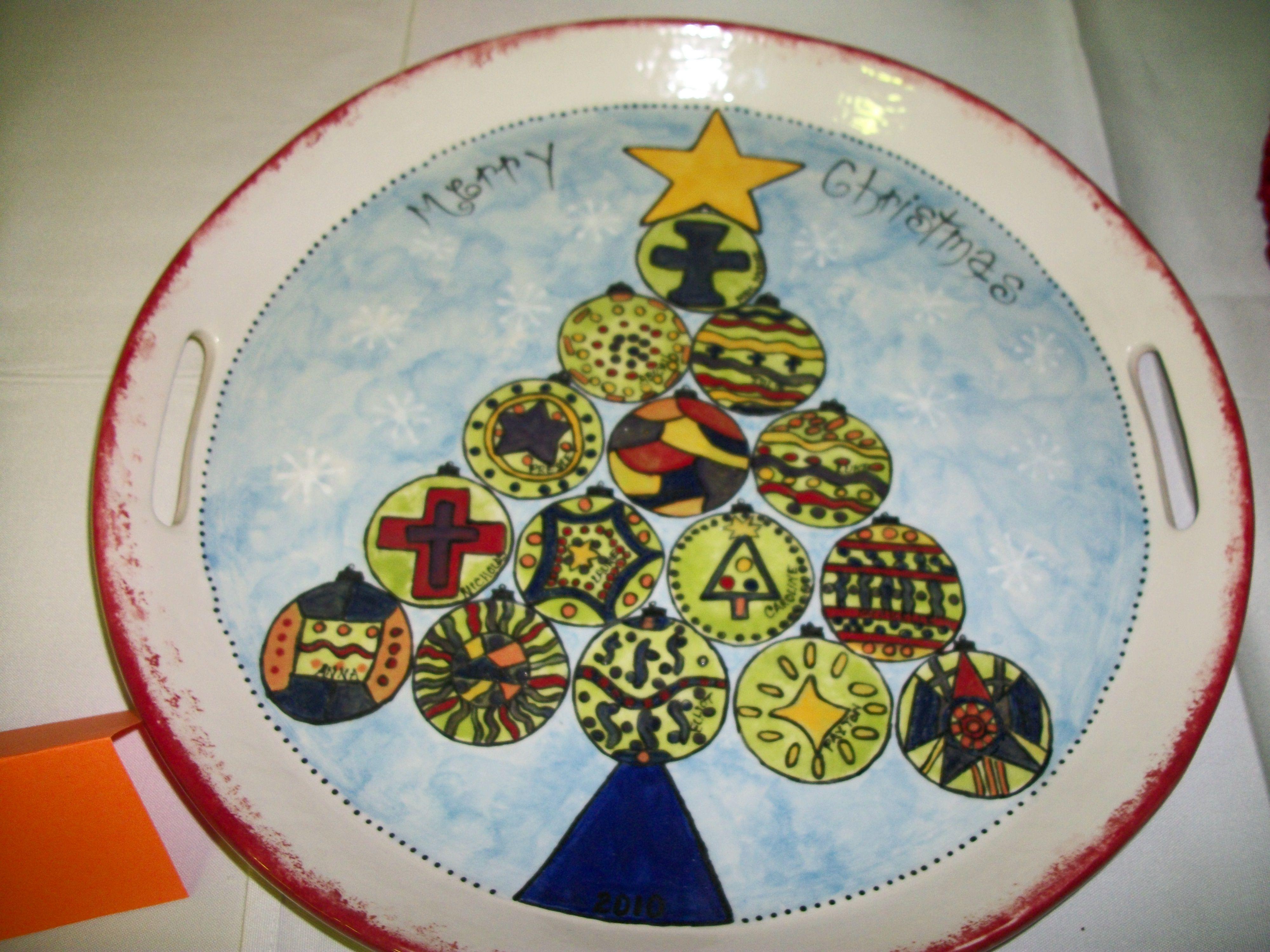 2010 Christmas plate