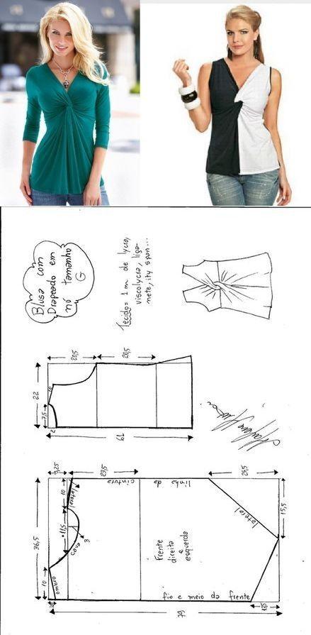 costura #moldes   Blusas   Pinterest   Molde, Costura y Blusas