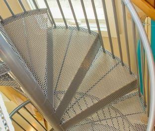 Best The Butler Adjustable Step Height Spiral Stairs 640 x 480