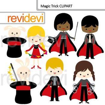 Cute magician clip art - Magic Trick Clipart. Kids, boys and girls ...