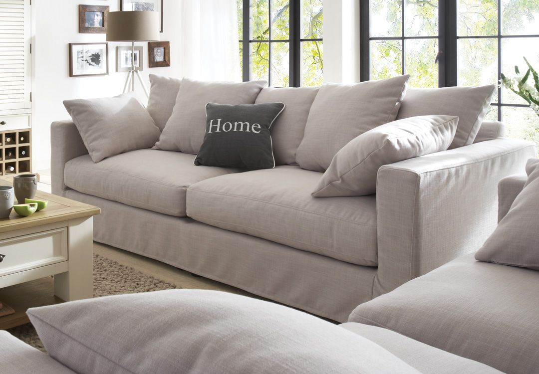 Landhausstil Sofa Hussen Sofa Massa Beispielkombination Stoff Field 60 Lightgrey