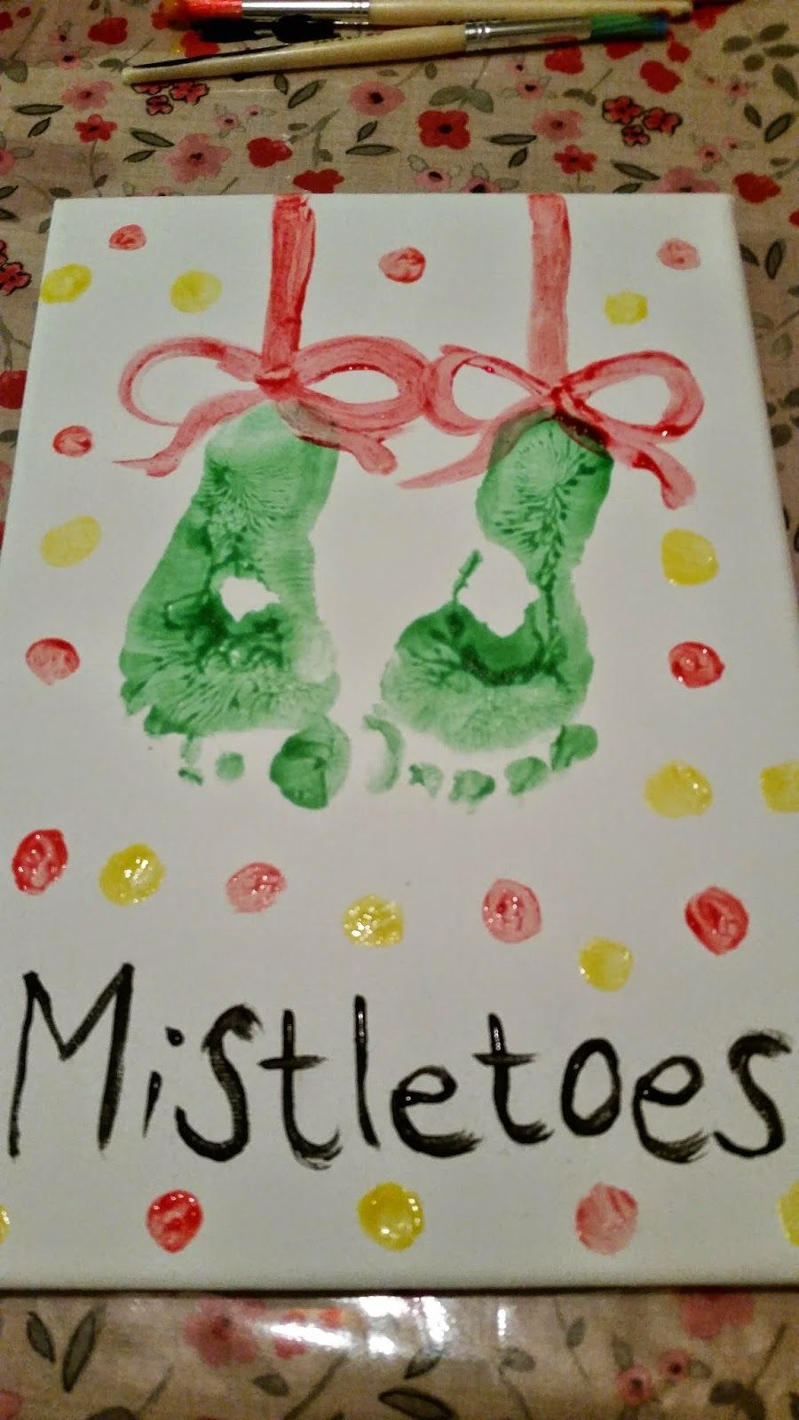 All about a mini Norris A homemade christmas canvas gift