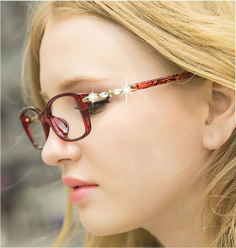 BOYEDA Mode Diamant Runde Brille Retro Brillen Frauen Brille Rahmen ...