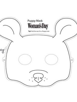 31 Creative DIY Halloween Masks Download, Puppy face and Print - face masks templates