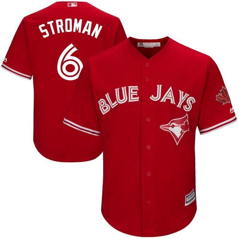 quality design 7a609 45db6 Marcus Stroman Toronto Blue Jays Majestic 2017 Cool Base ...