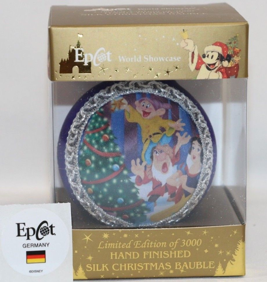 Snow White German Pewter Christmas Tree Ornament Seven Dwarfs Decoration Germany