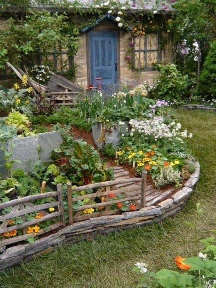 ✔56 beautiful cottage garden design ideas with the old garden style 19 #gardendesignideas