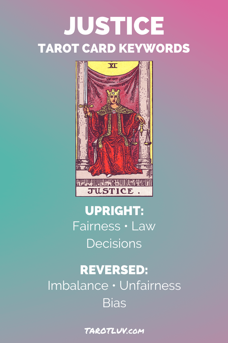 The Justice Card Tarot Meanings Major Arcana Justice Tarot Tarot Meanings Tarot