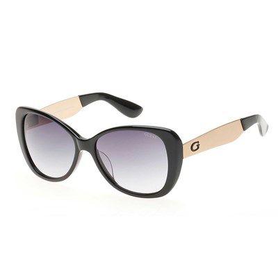 Óculos de Sol Guess Retrô Preto com Lente Cinza - GU719201B   Óculos ... f1fa8efe93