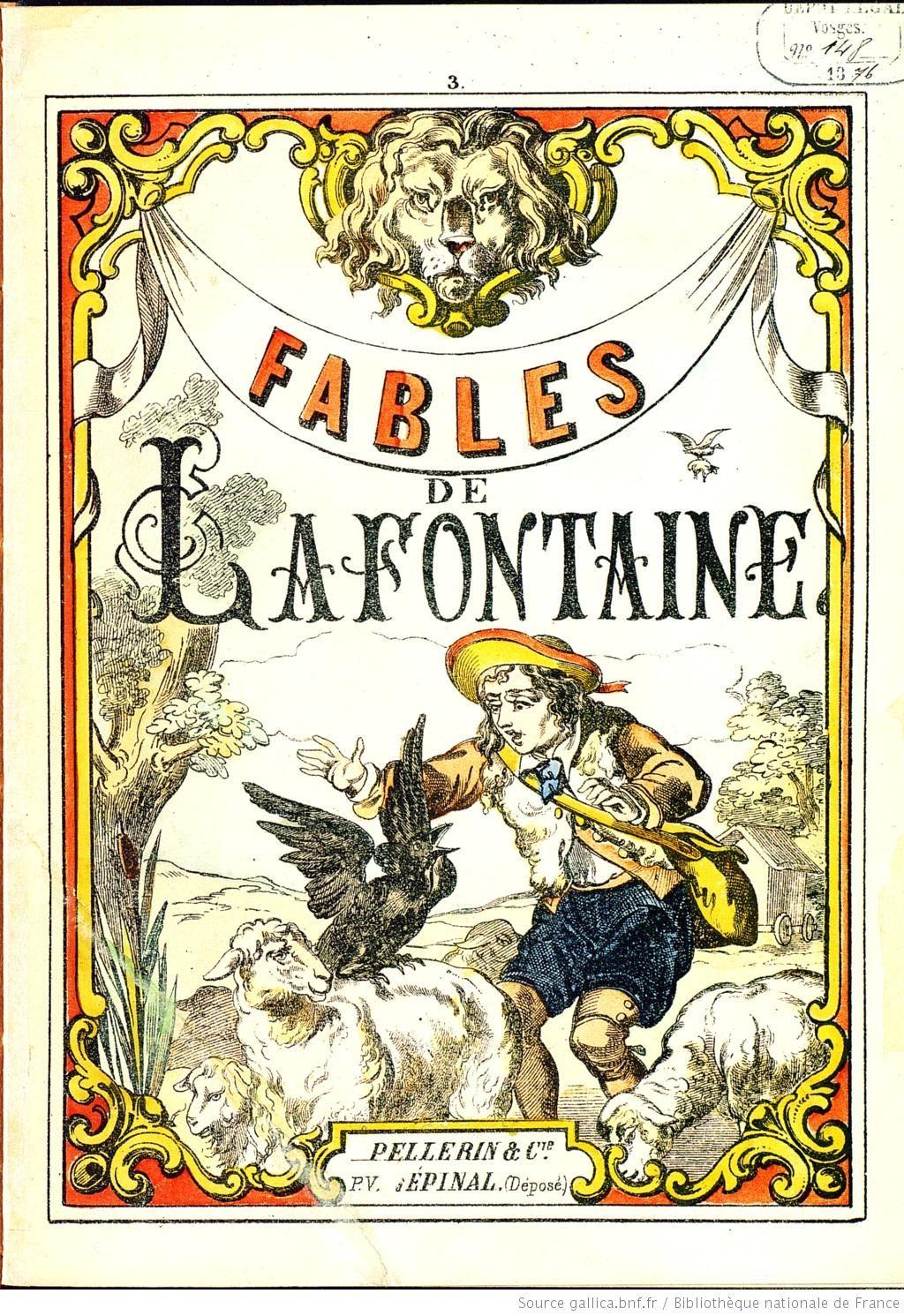 Fables De La Fontaine N 1 4 Fables De La Fontaine Fable Livre Coloriage
