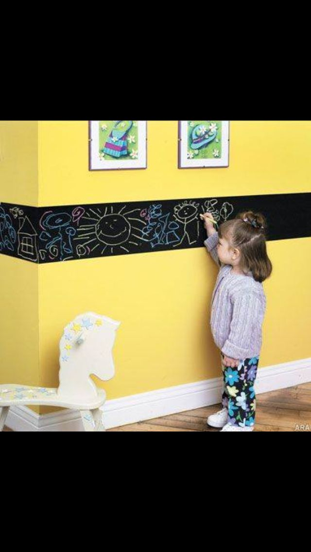 Chalkboard wall-boarder for doodling children | Ideas for/with ...