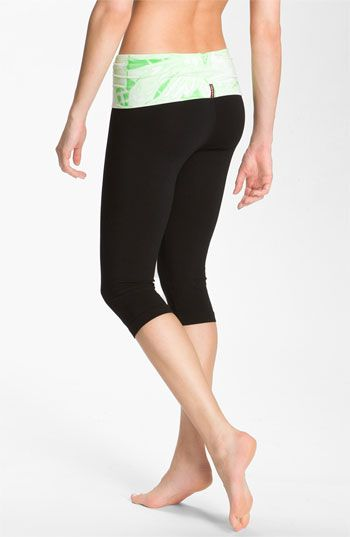 Hard Tail Roll Waist Knee Length Leggings