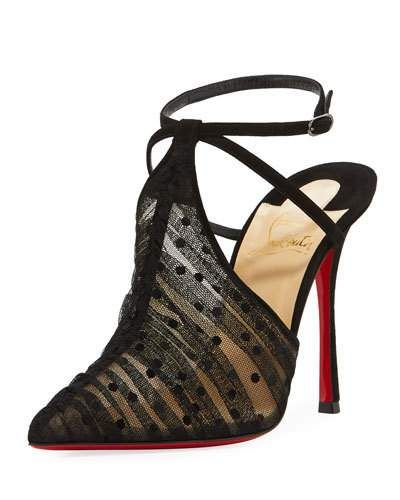 9ab6e0f3d49 CHRISTIAN LOUBOUTIN Queen Acid Tulle Red Sole Pump, Black ...