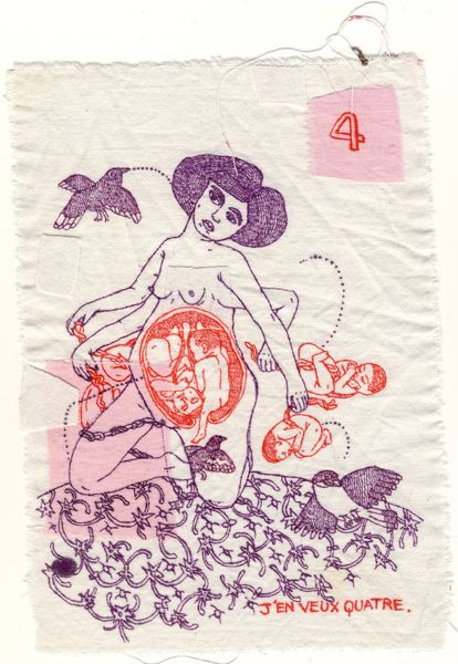"""""""MENSES ANTE ROSAM (months before Rosa)"""", by Aurelie William Levaux, is an incredible art book made of embroideries the artist made as she w..."""
